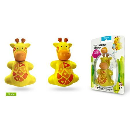 Yellow Giraffe Flipper Toothbrush Holder
