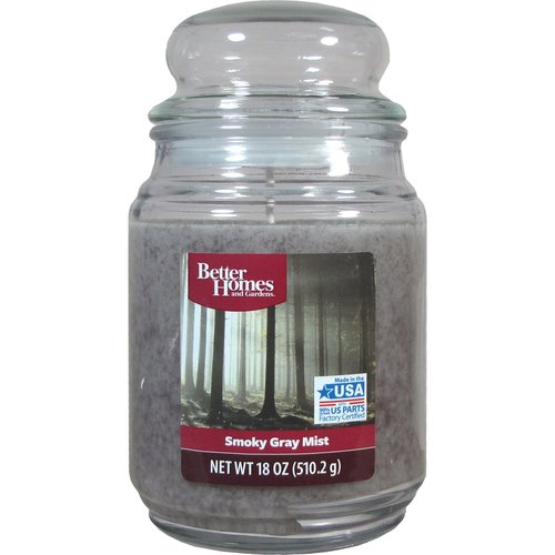 Better Homes and Gardens 18oz Smoky Gray Mist Candle