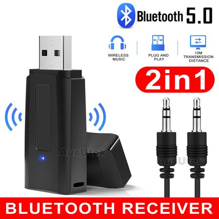 5.0 Wireless Bluetooth 3.5mm Audio USB Receiver Adapter Music Dongle AUX A2DP (Bluetooth A2dp Dongle)
