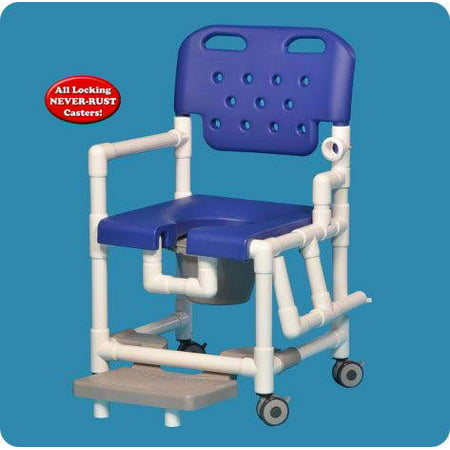 Elite Shower Chair Commode with Slideout Footrest and Left Drop Arm - ELT817PFRLDARSB - 38