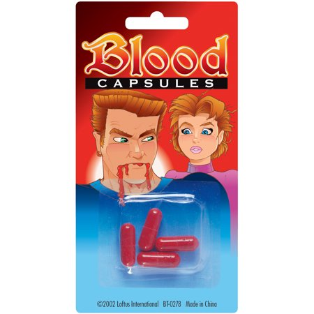 Loftus Halloween Mouth Fake Blood Capsules 4 Pack Red One Size