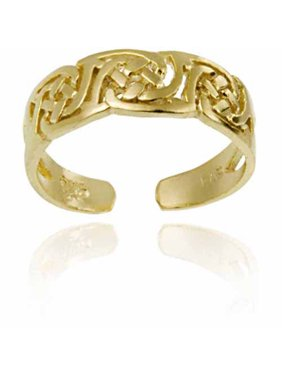 Irish Celtic 18kt Gold over Sterling Silver Knot Toe Ring