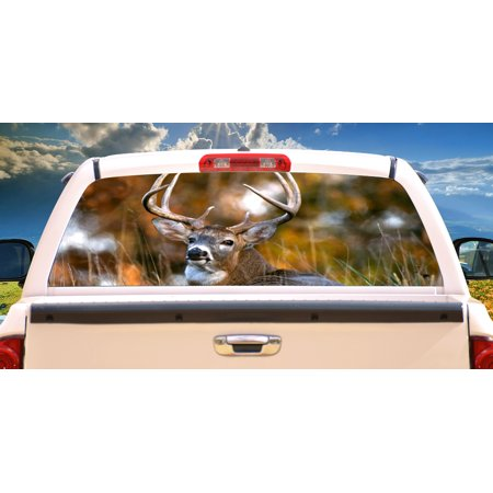Acid Surf Rear Window Graphic truck view thru vinyl decal back