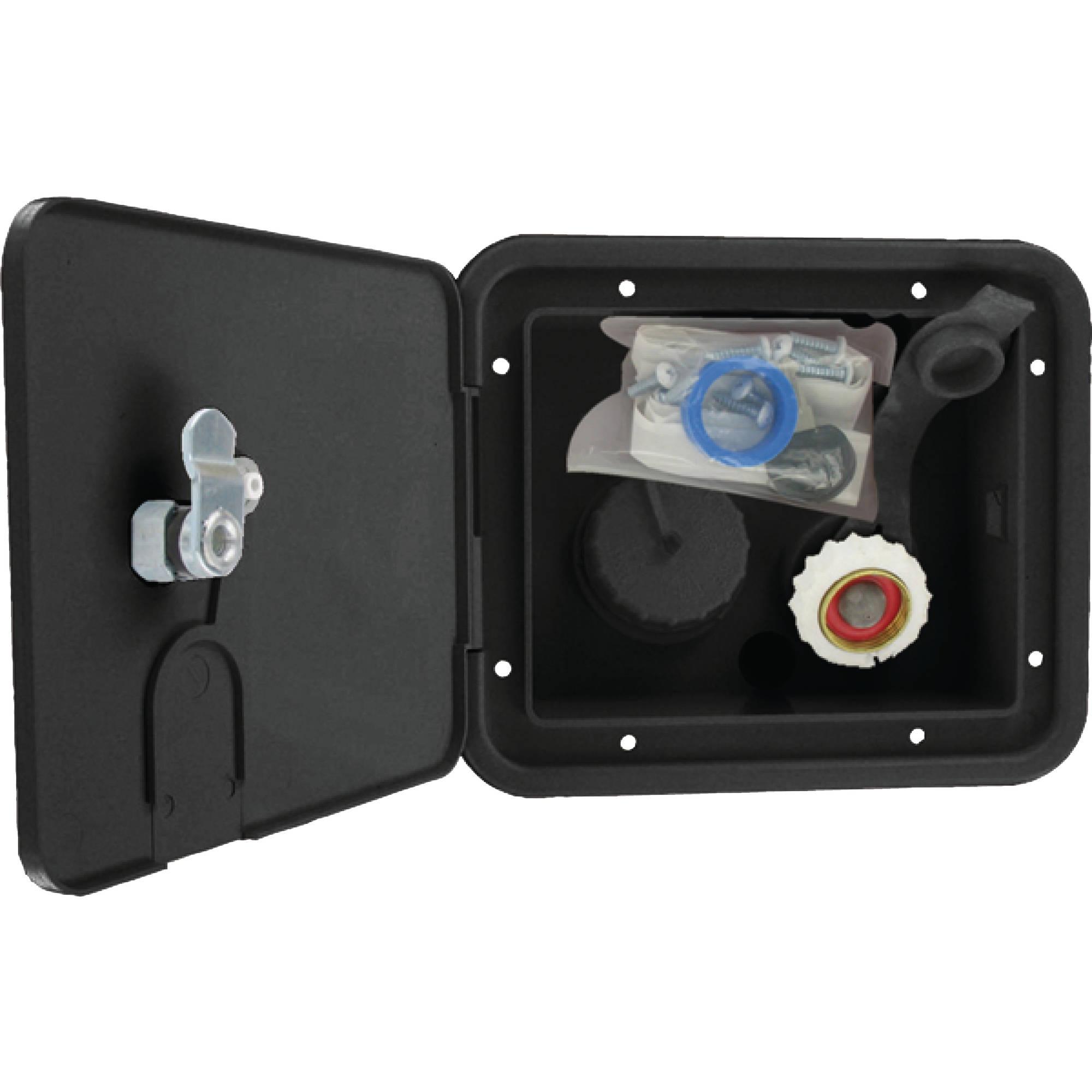 Valterra A01-2000BKVP Gravity/City Water Inlet Hatch - Brass, Black (Carded)