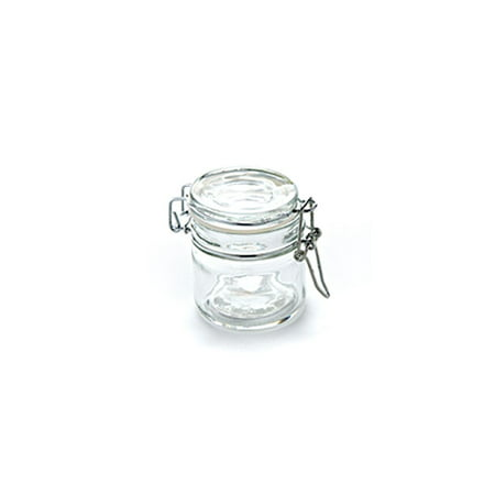 American Metalcraft HMMJ4 4 Oz Mini Apothecary Jar with Hinged Lid ()