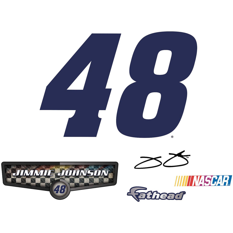 Fathead Jimmie Johnson Blue #48 Teammate Logo