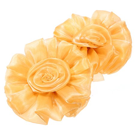 Grtsunsea 1 Pair Yellow Rose Flower Window Curtain Tieback Clip-on Clamp Fastener Wedding Party Home Decorations