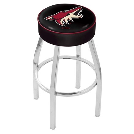 Holland Bar Stool L8C130PhxCoy 30 inch 4 inch Phoenix Coyotes Cushion Seat with Chrome Base Swivel Bar Stool by