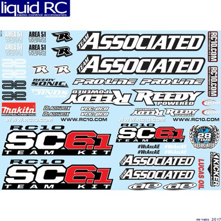 Associated 71131 SC6.1 Decal Sheet