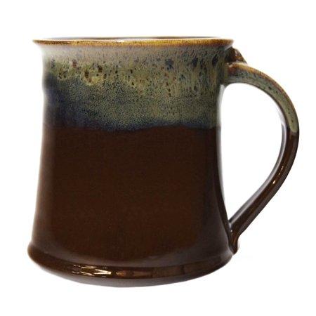 Clay In Motion Handmade Ceramic Medium Mug 16oz - Mocha