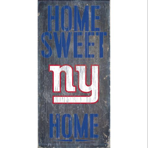 "New York Giants Wood Sign - Home Sweet Home 6""x12"""