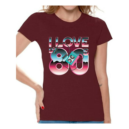 Awkward Styles 80s Shirt I Love the 80s Shirt 80s Tops 80s Party Girl Shirt 80s Costumes for Women 80's T-shirt 80s Rock T Shirt 80s Theme Vintage 80s T Shirt - I Party Costumes