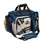 Okeechobee Fats XL Fishing Tackle Bag with 4 Large Utility Lure Box Storage Containers, Blue