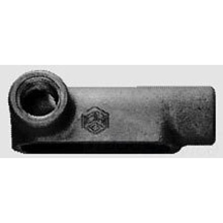 Crouse-Hinds LL25MTC Die Cast Aluminum Type LL Conduit Outlet Body With Cover and Gasket 3/4 Inch Condulet