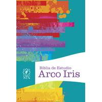 NTV Biblia de Estudio  Arco Iris, multicolor tapa dura