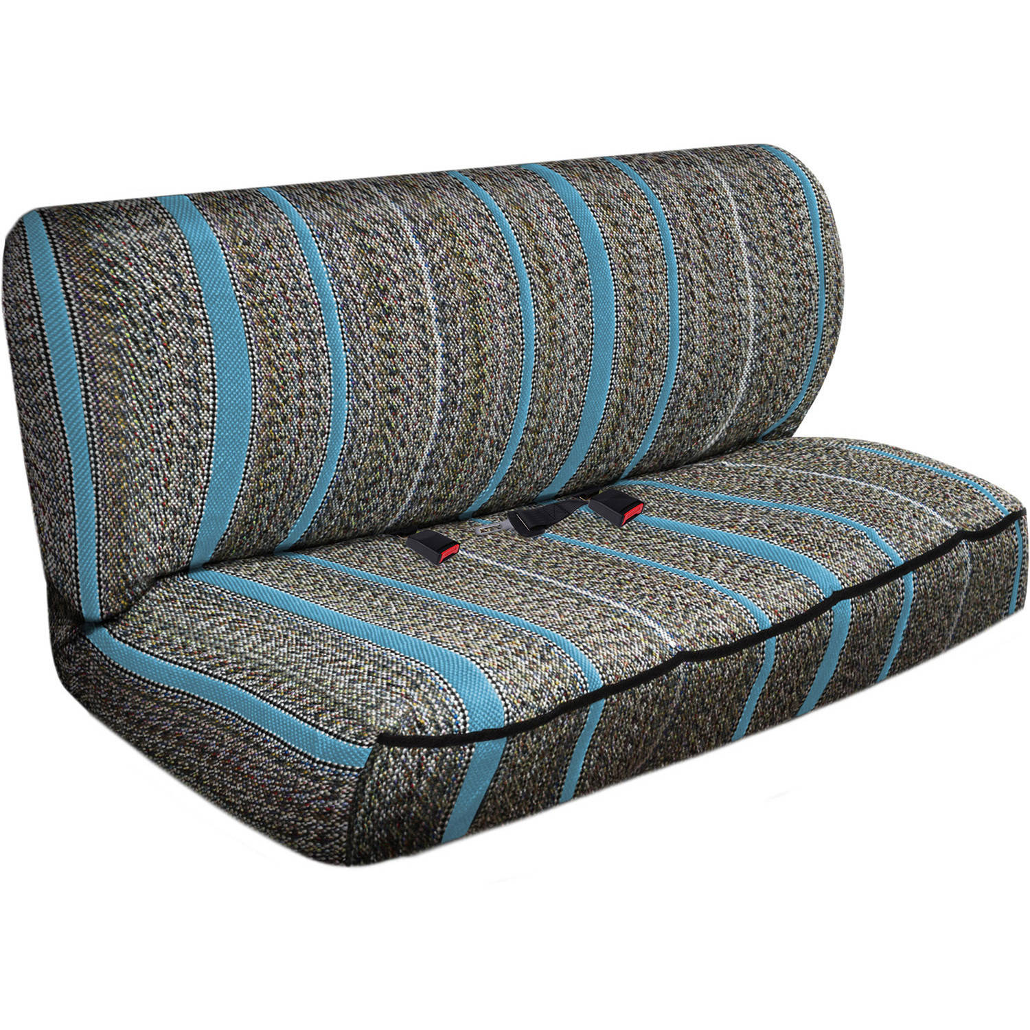 OxGord 2-Piece Full Size Heavy Duty Saddle Blanket Bench Seat Covers, Light Blue
