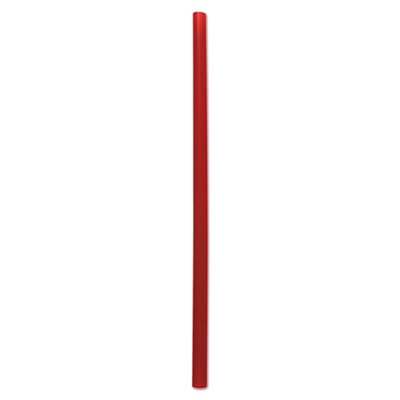 "Boardwalk GSTU775R Unwrapped Giant Straws, 7 3/4"", Red, 1500/carton"