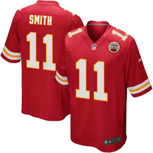 Alex Smith Kansas City Chiefs Nike Game Jersey - Red