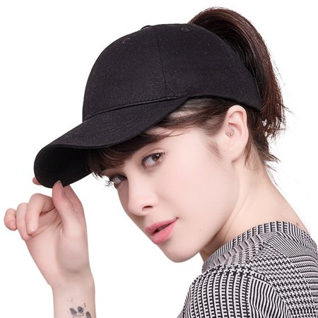 Belt Adjustable Hat (2018 New Fashion Ponytail Baseball Cap Women Messy Bun Caps Adjustable Snapback Trucker Cotton Dad Hats Sports Outdoor -)