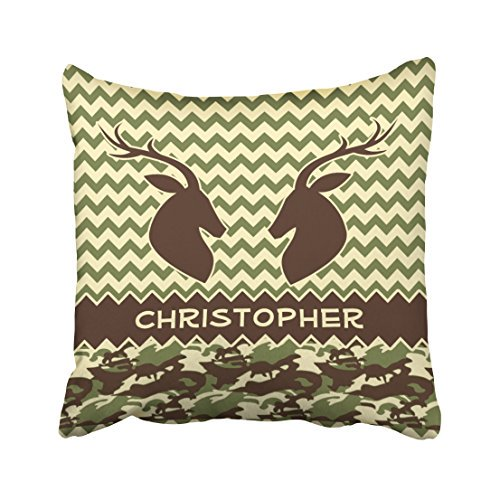 Winhome Fahion Vintage Simple Chevron Deer Camouflage Personalize Decorative Polyester 18 X 18 Inch Square Throw Pillow Covers With Hidden Zipper Home Sofa Cushion Decorative Pillowcases Walmart Com Walmart Com