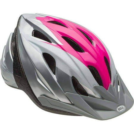 Silver Nebraska Helmet (Bell Sports Rival Glitter Journey Child Bike Helmet, Silver Pink)
