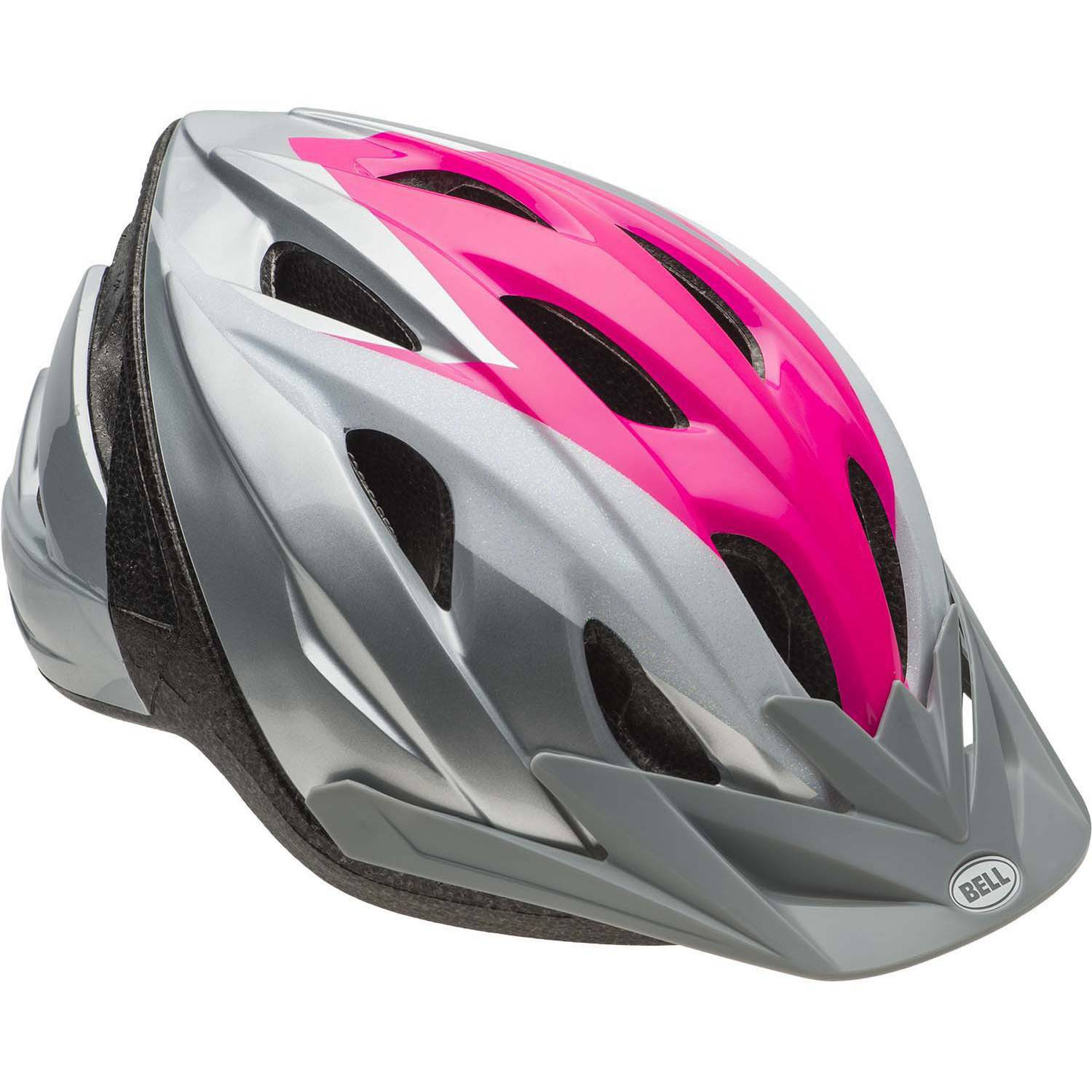 Bell Sports Rival Glitter Journey Child Bike Helmet, Silver Pink