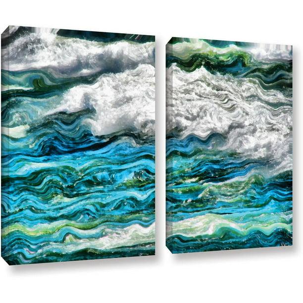 Artwall Kevin Calkins Cresting Waves 2 0 2 Piece Gallery Wrapped Canvas Set Walmart Com Walmart Com