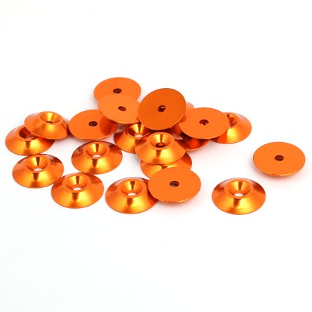 Unique Bargains M3 Aluminium Alloy Cone Shape Engine Bay Fender Bumper Washer Orange 20pcs - image 2 of 2
