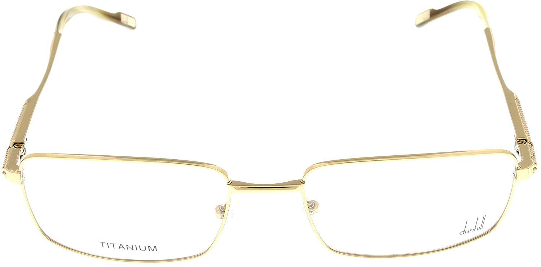ad7ae350ff9 Dunhill Prescription Eyeglasses Frame DU126 02A Shiny Rose Gold Titanium -  Walmart.com