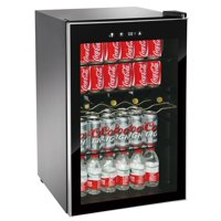 RCA 110 Can & 4 Bottle Beverage Center and Wine Cooler, (RMIS1530) Black