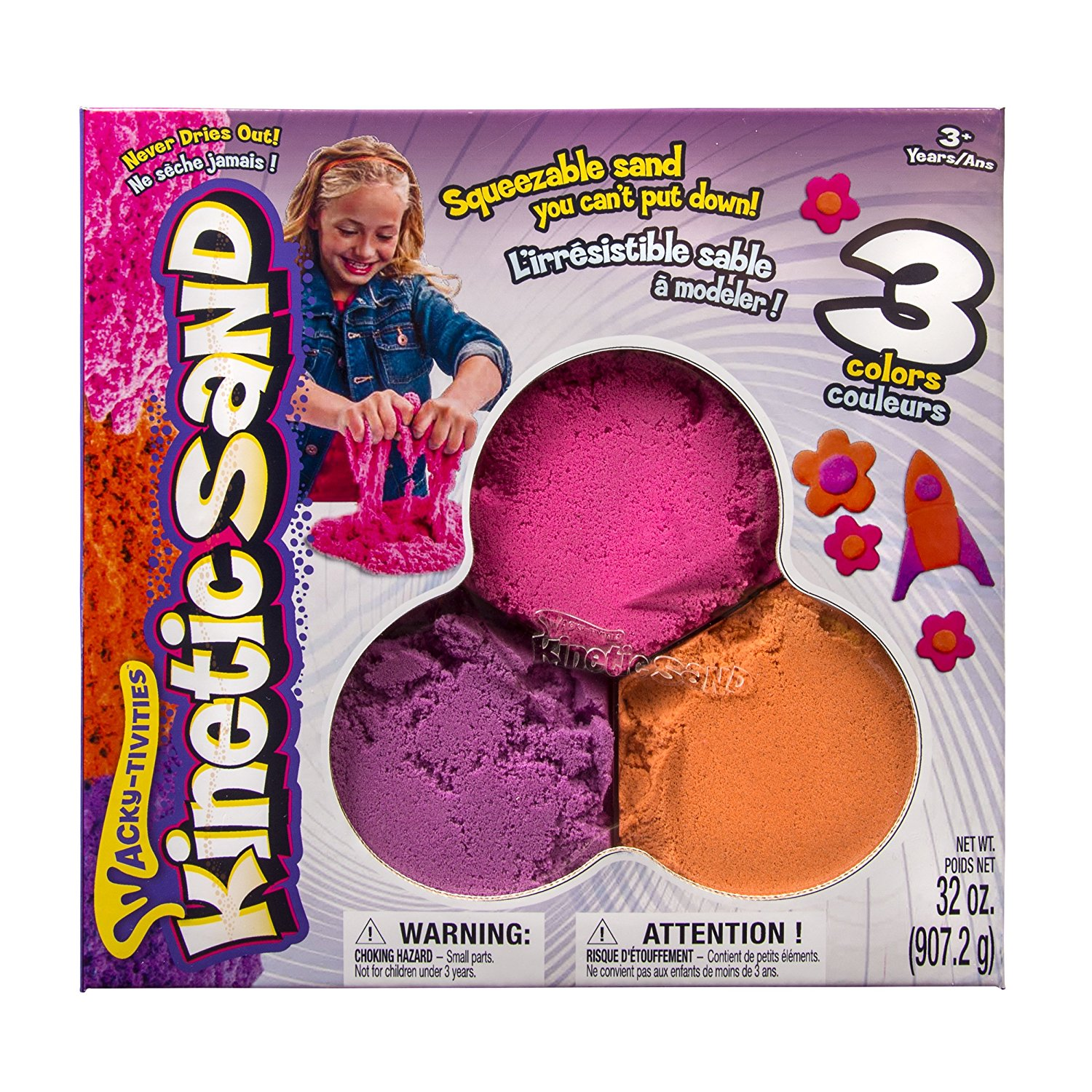 Wacky-tivities - - Bundle Pack, Kinetic Sand is the squeezable sand where you can feel the fun! Pack it! Pull it! Shape it! Love It! You'll never want to put it.., By Kinetic Sand Ship from US