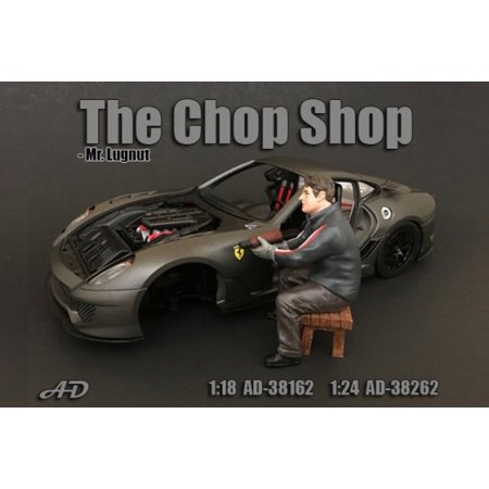 The Chop Shop Mr. Lugnut Figure, American Diorama 38262 - 1/24 Scale Accessory for Diecast Cars - Skylanders Chop Chop
