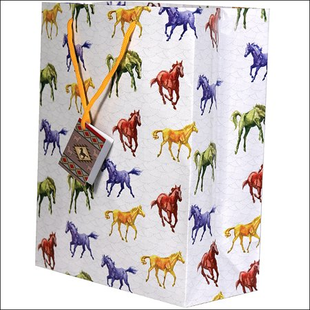 10x13x5 Rivers Edge Home Decor Medium Horse Printed Gift Bag W