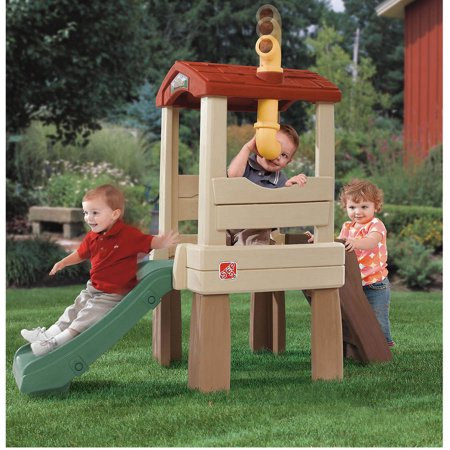 Step2 Lookout Treehouse Climber Playset With 33   Slide