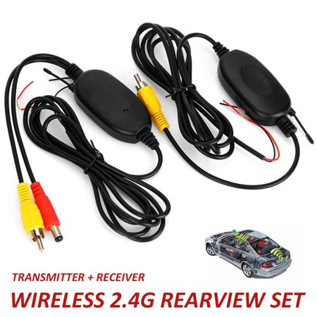 2.4G Wireless Rear RCA View Color Video Transmitter Receiver Backup Car Camera DC