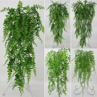 Plastic Artificial Leaves Persian Rattan Fake Plant Wall Hanging Courtyard Fake Leaf Garden Decoration