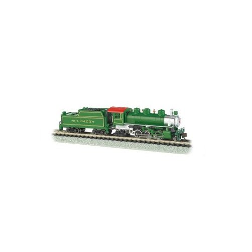 Bachmann Industries Prairie 2-6-2 Locomotive and Tender Southern Train Car, Green, N Scale... by Bachmann Trains
