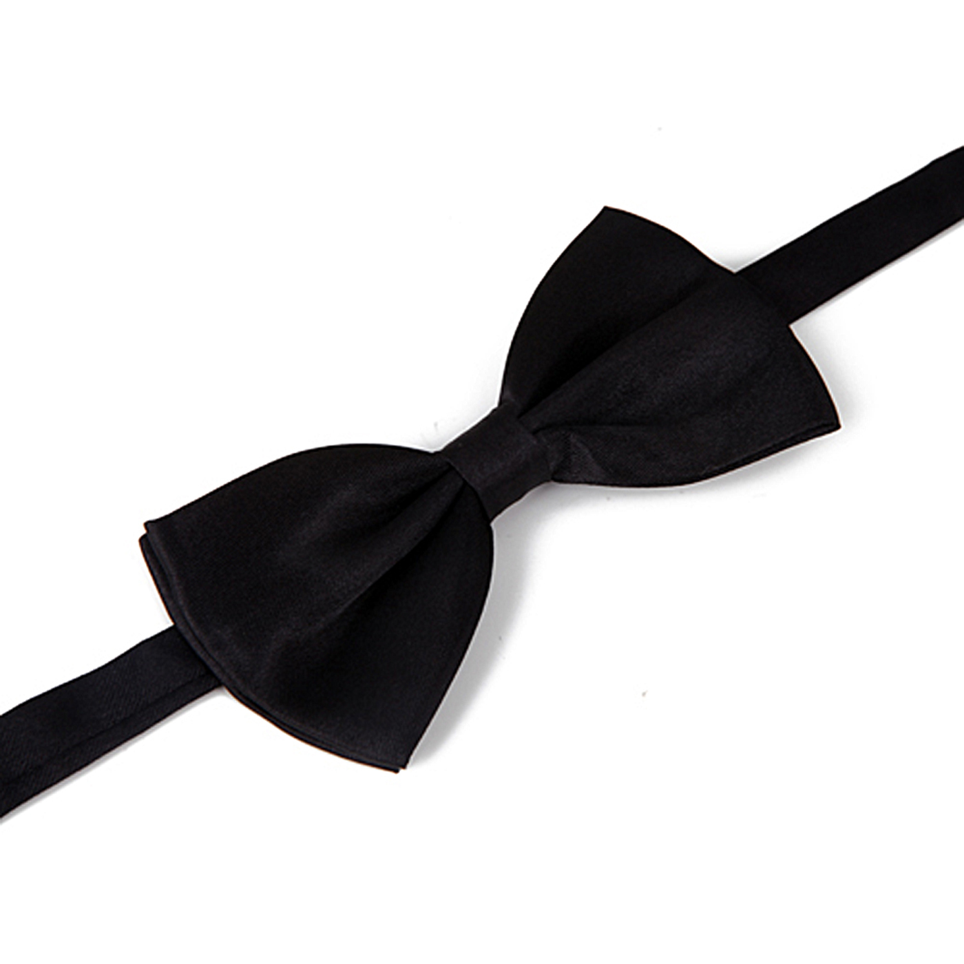 HDE Pre-tied Bowtie Adjustable Satin Polyester Bow Tie for Tuxedo Wedding Party and Other Occasions (Black)