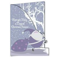 2' x 3' Giant Christmas Card, Santa, W/ Envelope