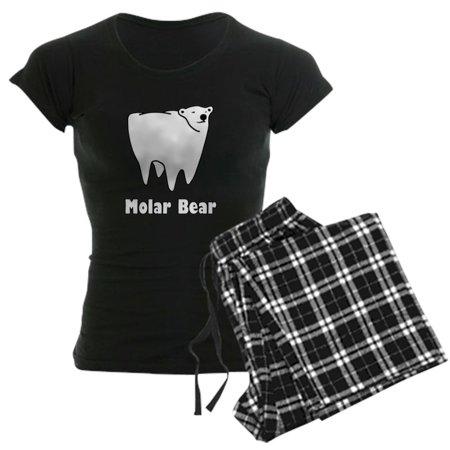 CafePress - Molar Bear Polar Tooth Bear Pajamas - Women's Dark Pajamas