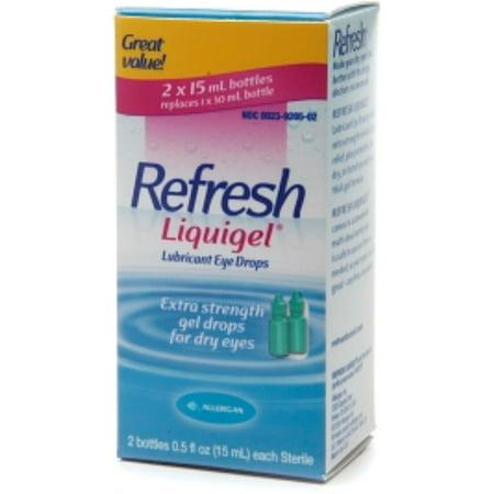 Refresh Liquigel, gouttes oculaires lubrifiantes 2 bouteilles [2 x 15 ml]