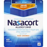 Nasacort Multi-Symptom 24Hr Nasal Allergy Relief Spray, 60 Ct