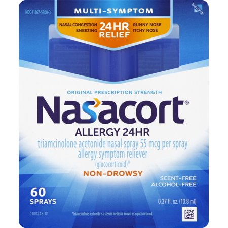 Nasacort Multi-Symptom 24hr Nasal Allergy Relief Spray,