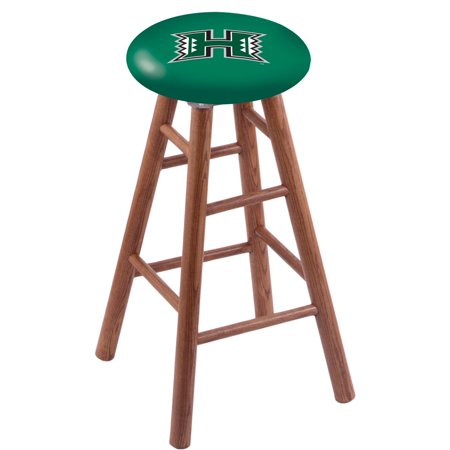 Oak Bar Stool in Medium Finish with Hawaii Seat by the Holland Bar Stool Co. ()