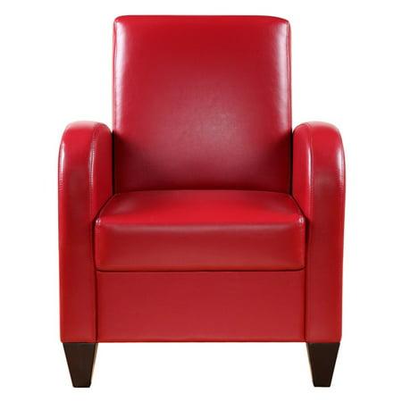 Pleasing Nh Designs Faux Leather Accent Chair Creativecarmelina Interior Chair Design Creativecarmelinacom