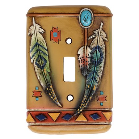 Tribal Feathers Single Switch Plate Cover