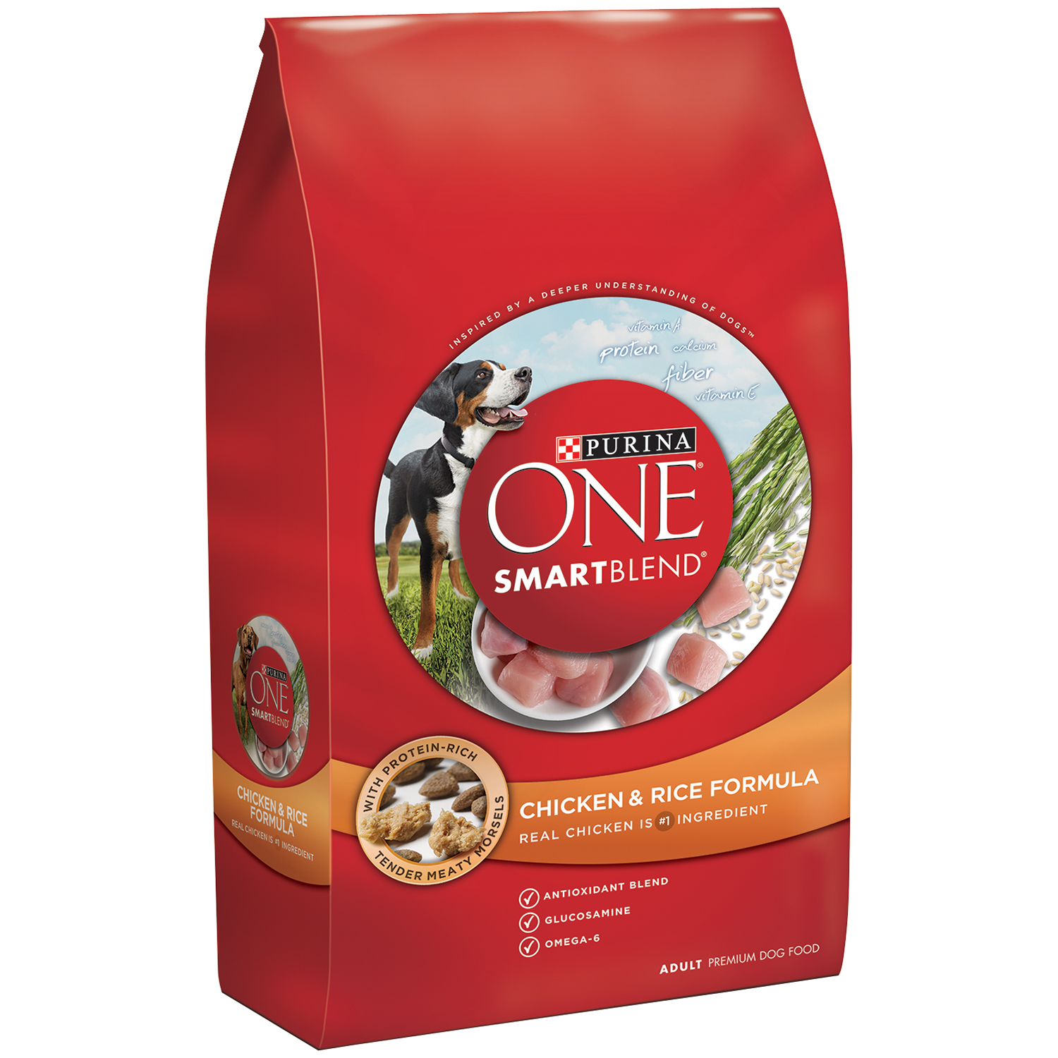 Purina ONE SmartBlend Chicken & Rice Formula Adult Premium Dog Food 8 lb. Bag
