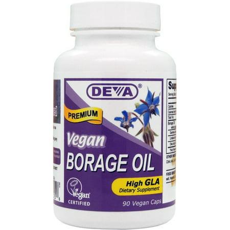 Deva Vegan Borage Oil - 1000 mg - 90 Vcaps (Grease Capsule)