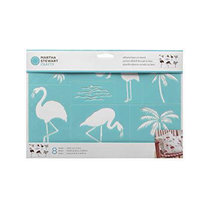 Darice Glitter Flamingos Palm Trees Foamies Stickers