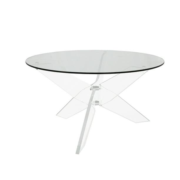 Round Acrylic Coffee Table, Round Acrylic Coffee Table